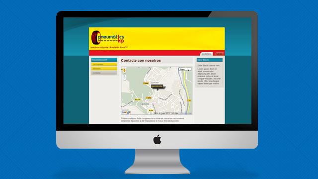 captura de pantalla web Neumaticos Kp