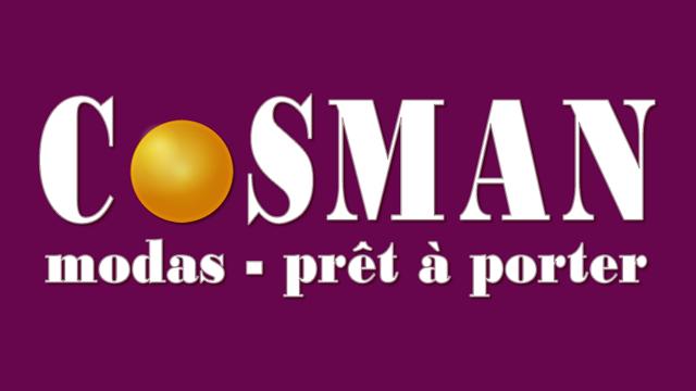 logotipo de cosman modas