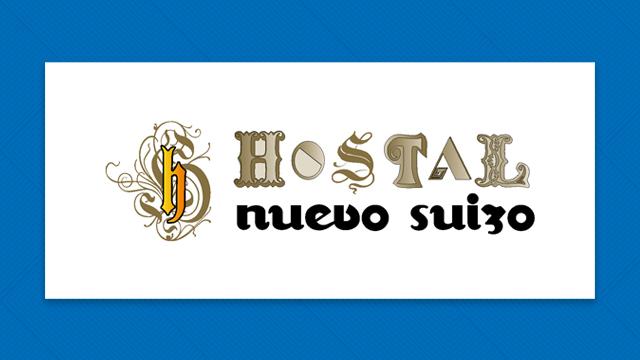 Logotipo hostal nuevo suizo
