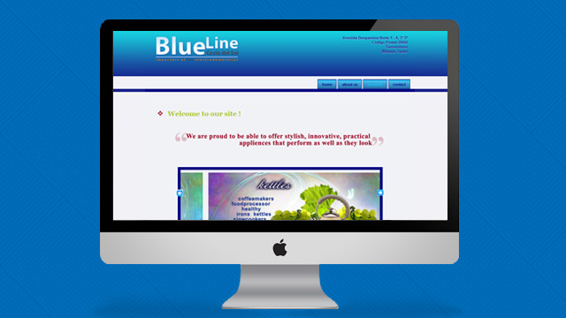 captura pantalla web Blueline Costa del Sol